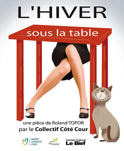 L'hiver sous la table, pièce de théâtre de Roland Topor par le collectif coté cour