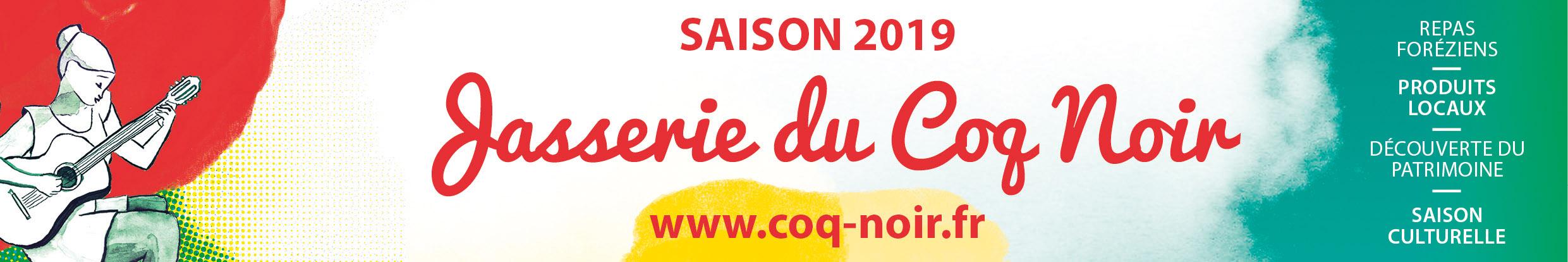 saison culturelle 2019 jasserie du coq noir, visuel