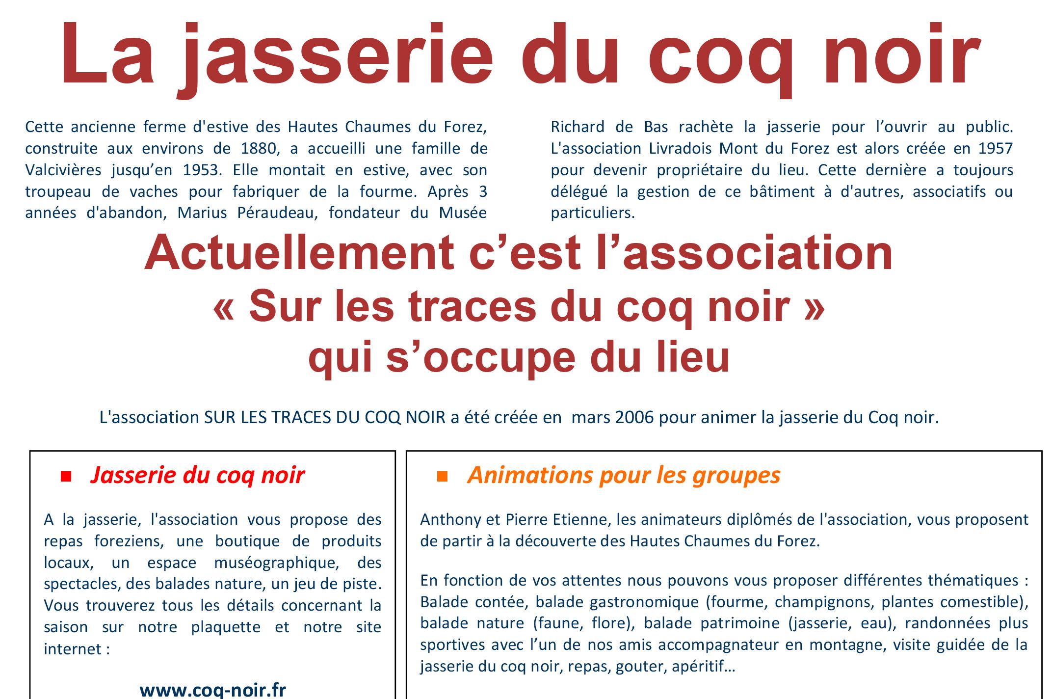 Carte Menu Coqnoir Jasserie Du Coq Noir